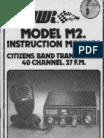 JWR M2 CB Radio UK user instruction manual with circuit
