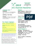 January 7 Newsletter