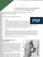 ENTERRATORIOS DEL SITIO ARQUEOLÓGICO LOS BRONCES-1, COMUNA DE TALTAL (REGIÓN DE ANTOFAGASTA)