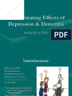 Differentiating Effects of Depression and Dementia