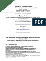 Indice Boletin APAR - Revista Quellca Rumi