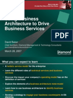 Using Business Architecture to Drive Business Services