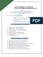 Portafolio de Seminarios  Job Management Vsion 2013