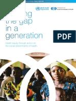 Closing The Gap In A Generation (老齢化社会:格差の是正)