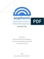 Building the Auphonic Mobile Web Application