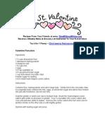 Valentine Recipes 2009
