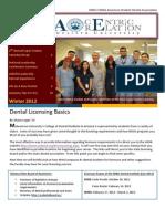 MWU-CDMA American Student Dental Association Newsletter - Winter 2012