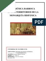 LA MÚSICA BARROCA EN LOS TERRITORIOS DE LA MONARQUÍA HIPÁNICA