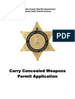 Carry Concealed Weapons Permit Application, Riverside, CA