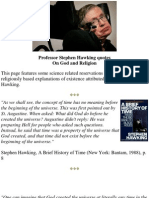 Professor Stephen Hawking Quotes