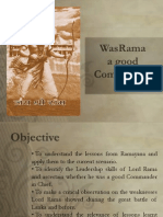Was Rama a Good Commander?