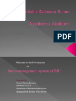 Stress Management of BIU