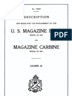 Description and Rules for the Management of US Magazine Rifle Model of 1898 and Magazine Carbine Model of 1899