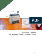 Driver Operators Guide KIP 3000