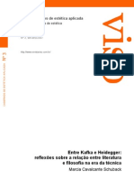 Entre Kafka e Heidegger