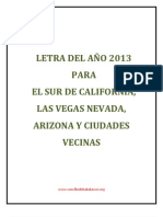 LETRA DEL AÑO 2013 PARA CALIFORNIA, NEVADA, ARIZONA Y ESTADOS COLINDANTES