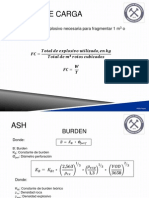 formulas perforacion y tronadura