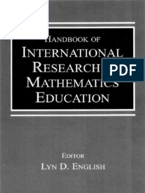 Handbook of International Research in Mathematics Education ... on