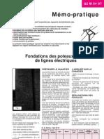 Fondations Poteaux Beton Lignes Electriques