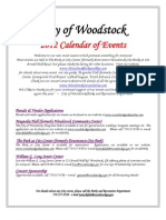 City of Woodstock Event Calendar 2012 _2