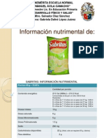 informacion nutrimental