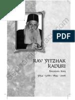 Sample Chapter R Yitzhak Kaduri