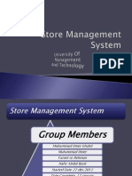 Synopsis(Departmental Store) | Oracle Database | Graphical