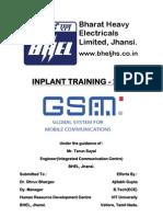 BHEL Summer Training Project Report