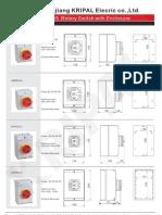 IP65 isolator switch / rotary switch