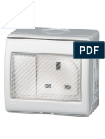 IP55 waterproof switch socket