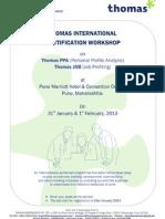 World Acclaimed Thomas Profiling Certification Program on 31st Jan & 1st Feb