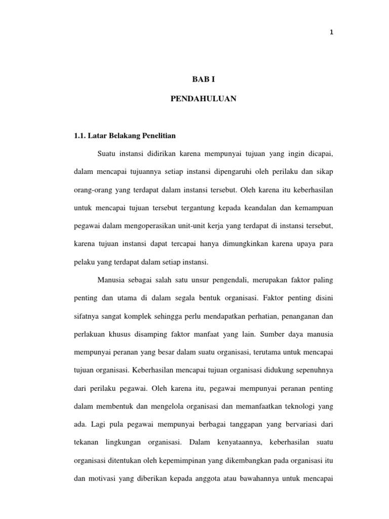 Contoh Skripsi Bab 1 Manajemen Ide Judul Skripsi Universitas