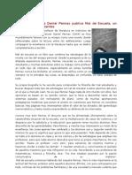 El Escritor Francés Daniel Pennac Publica Mal de Escuela