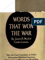 james mock.words that won the war.the story of the committee of public  information