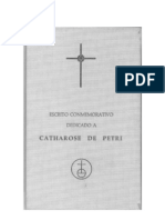 Escrito Conmemorativo Dedicado a Catharose de Petri