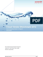 Cloud Vendor Benchmark 2012 - Exec Summary