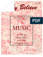 Music - The Sound and Unsound -Only Believe Magazine