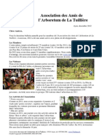 Lettre Annuelle La Tuilliere 2012