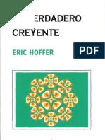 El verdadero creyente Eric Hoffer