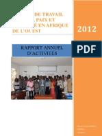GTFPS Rapport Annuel d'activités 2012