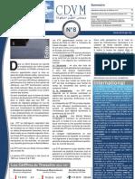 CDVM - Newsletter n°8