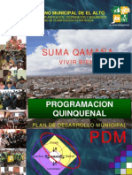3 Programación Quinquenal PDM 2007-2011