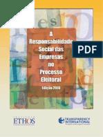 Instituto Ethos, A responsabilidade social das empresas no processo eleitoral edição 2010