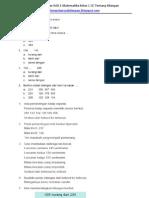Latihan Ulangan BAB 1 Matematika Kelas 2 SD Tentang Bilangan