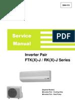 Inverter Pair FTK(X) J RK(X) J Service Manual