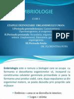 Embriologie Curs 1