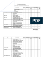 psychomotor skills checklist