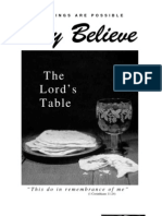 The Lord's Supper - Only Believe Magazine