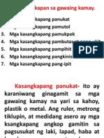 Mga Kasangkapan Sa Gawaing Kamay