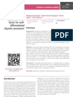 Is Hashimoto's thyroiditis a risk factor for welldifferentiated thyroid carcinoma?
